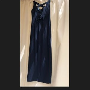 Laundry By Shelli Segal Dresses - Navy blue gown with slit in back